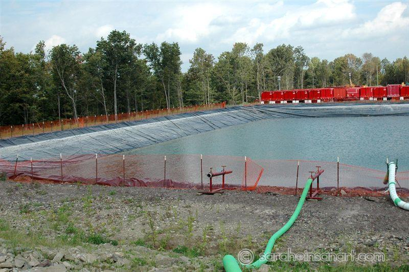 Frac water holding pond 2